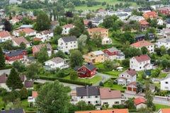 Norsk by Royaltyfri Bild