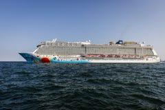 Norsk brytning som lämnar Köpenhamnport royaltyfria bilder