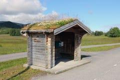 Norsk bussstation Royaltyfria Bilder