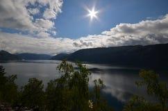 Norsk fjiord Fotografering för Bildbyråer