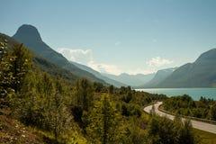 Norsk fjord Fotografering för Bildbyråer