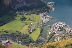 Norsk fjord, Skandinavien Arkivbilder