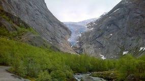 Norsk glaciär Fotografering för Bildbyråer