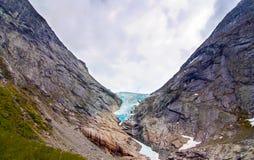 Norsk glaciär Arkivfoton