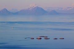 Norsk kustlinje arkivfoton