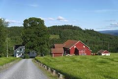 Norsk lantgård Royaltyfri Bild