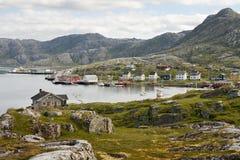 norsk liten by arkivfoton