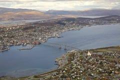 Norsk stad Tromso Royaltyfri Fotografi