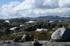 norska berg Arkivbild