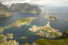 norska fiords royaltyfria bilder