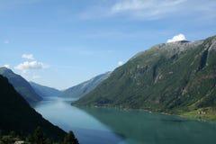 norska fjords royaltyfri bild