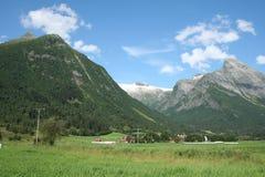 norska fjords arkivfoto
