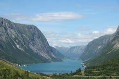 norska fjords royaltyfri fotografi