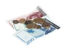 Norska pengar Fotografering för Bildbyråer