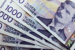 Norska pengar Royaltyfria Bilder