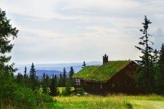 Norskt feriehus, hytte Royaltyfria Foton