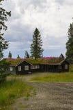 Norskt feriehus, hytte Arkivbild
