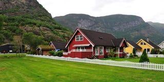 Norskt hus Royaltyfria Foton