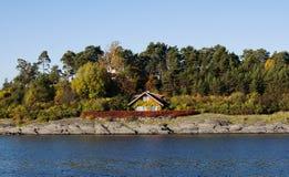 Norskt hus Royaltyfria Bilder