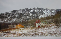 Norskt landskap under vinter Royaltyfri Bild