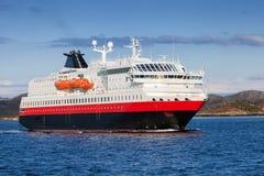 Norskt passagerarekryssningskepp Fotografering för Bildbyråer