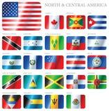 Norte & América Central das bandeiras Imagem de Stock Royalty Free