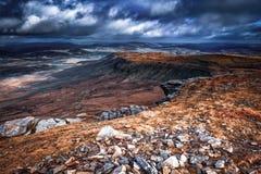 Norte da vista de Ingleborough, North Yorkshire imagem de stock royalty free