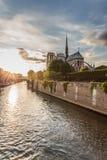 Norte Dame Cathedral de Paris stock afbeelding