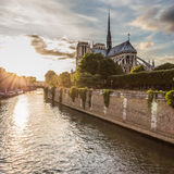 Norte Dame Cathedral de Paris stock fotografie