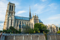 Norte Dame Cathedral de Paris Royalty-vrije Stock Fotografie