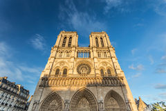 Norte Dame Cathedral de Paris Arkivfoto