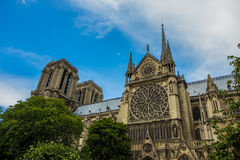 Norte Dame Cathedral de Paris Royalty Free Stock Photo