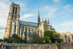 Norte Dame Cathedral de Paris Stock Photo