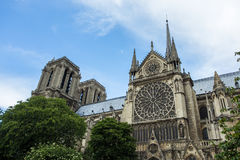 Norte Dame Cathedral de Paris Stock Image