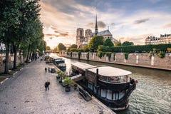Norte Dame Cathedral de Paris frankrijk Stock Afbeeldingen