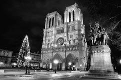 Norte Dame Cathedral em Paris, França Fotografia de Stock