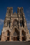Norte-Dame de Reims. Reims Cathedral , architecture, art, building, cathedral, church, europe, exterior, facade, france, gothic, heritage, history, old Royalty Free Stock Image