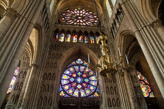 Norte-Dame de Reims Stock Images