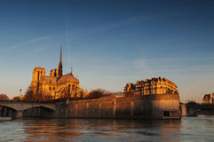 Norte dame horizontal view Stock Image