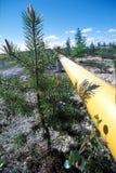 Norte de Rusia. La producción del gas natural. Fotos de archivo libres de regalías