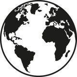 Norte e Ámérica do Sul de Europa África da terra do planeta ilustração do vetor