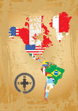 Norte e continente do americano de Sout Imagens de Stock Royalty Free