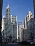 Norte na avenida de Michigan Foto de Stock Royalty Free