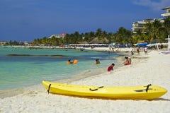 Norte playa, Isla de Mujeres, Mexico som är karibisk Fotografering för Bildbyråer