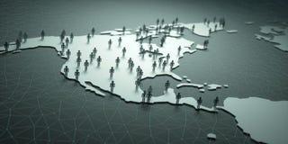 Norte y población de America Central Imagenes de archivo