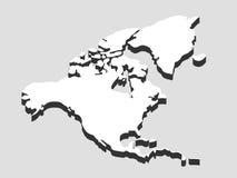 Norte y Suramérica continentes stock de ilustración
