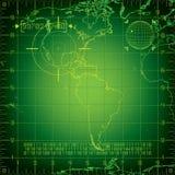 Norte y Suramérica del radar Imagenes de archivo