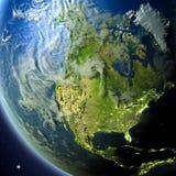 Norteamérica de la órbita stock de ilustración