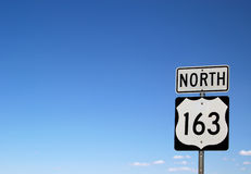 North 163 Highway sign  Stock Photos