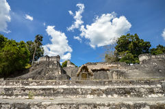 North Acropolis structures on the Grand Plaza in Tikal Stock Images